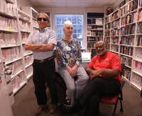 <p>Among the civil rights work of Ed Gray (right) is the Human Rights Dallas Maps Project, which also involves Rick Halperin and Jennifer McNabb at SMU.</p>(Jason Janik/Special Contributor)