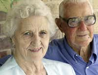 R.V. Burgin met wife Florence shortly before he was deployed to the Pacific and married her after the war. She died in 2011.(File Photo/Staff)