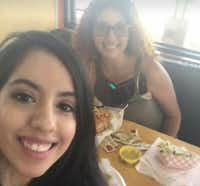Weltzin Garcia Mireles and Chrystal de Jesus smile for a photo during a lunch date in 2017. De Jesus said Mireles, her best friend who was found dead at Mountain Creek Lake, was a selfless friend and devoted mother.(Provided by Chrystal de Jesus)