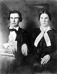 "<p>Mr. and Mrs. John Neely Bryan&nbsp; (<span style=""font-size: 1em; background-color: transparent;"">Margaret Beeman Bryan)</span></p>"