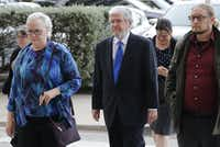 Former Dallas County Schools board president Larry Duncan arrived in October at the Earle Cabell Federal Building in Dallas to plead guilty to tax evasion. He was sentenced Tuesday to six months of home confinement and three years of probation.(Vernon Bryant/Staff Photographer)