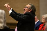 James Richman conducts the Dallas Bach Society performance of Bach's St. John Passion.(Allison Slomowitz/Special Contributor)