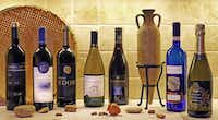 Kosher wines, left to right: Tulip Reserve Cabernet Sauvignon, Montefiore Red Blend, Psagot  Edom  Red Blend, Baron Herzog Chardonnay, Barkan Pinot Noir, Bartenura Moscato and Bartenura Prosecco(Alfonso Cevola/Special Contributor)