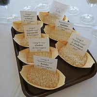 At a food-and-wine immersion conference in Piedmont, Italy, various types of rice were evaluated by chefs, sommeliers and others,  not unlike a wine tasting. It was presented by the Consorzio di Tutela del Riso di Baraggia Biellese e Vercellese. The rice consortium promotes best growing practices for the seven varieties of rice with the coveted European Union Protected Designation of Origin.(Alfonso Cevola/Special Contributor)