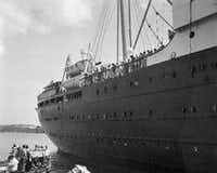 The German liner St. Louis was denied entrance to the Havana harbor in Cuba (pictured) and later to the United States, forcing it to sail back across the Atlantic and return to Germany. More than 900 German Jewish refugees were aboard the ship. (1939 File Photo/The Associated Press)