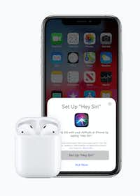 The new AirPods use Hey Siri.(Apple)