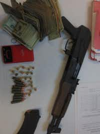 CBP officers at Presidio port discovered an AK-47 along with 47 rounds of ammunition and more than $10,000 in cash hidden in a truck.(U.S. Customs and Border Protection)