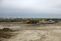 Construction is underway on the second phase of The Gates of Prosper shopping center.(Anja Schlein/Special Contributor)