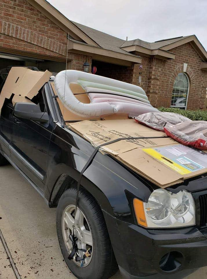 Pool toys, cardboard and bags of mulch: How North Texans are protecting their vehicles from hail