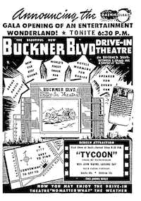 Buckner Boulevard Drive-In Theater's newspaper ad.(The Dallas Morning News)