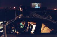 Dallas' last drive-in, the Astro, shown here in 1994, boasted it had the nation's largest movie screen.(Staff/The Dallas Morning News)