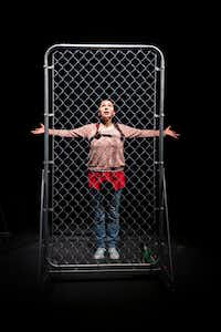 """<p><span style=""""font-size: 1em; background-color: transparent;"""">Frida Espinosa-Müller</span><span style=""""font-size: 1em; background-color: transparent;"""">portrays a 7-year-old separated from her mother after seeking asylum at the US-Mexico border, in a scene from Cara Mia Theatre Co.'s production of URSULA at the Latino Cultural Center on April 12, 2019, in Dallas.</span></p>(Smiley N. Pool/Staff Photographer)"""