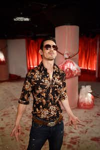 Actor Omar Padilla (boyfriend) poses for a photo during a dress rehearsal of <i>So Go the Ghosts of Mexico, Part Three, A Poet Sings the Daughter Songs,</i> by Matthew Paul Olmos, on April 13, 2019 at Undermain Theatre in Dallas.(Ben Torres/Special Contributor)