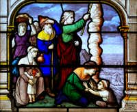 Detail of a stained glass window form 1887 of the church Saint Aignan, Chartres.(iStock/Getty Images)