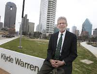 Larry Allums is pictured in Klyde Warren Park near downtown.(2015 File/Staff)