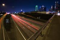 The view of Interstate 30 from the S. Harwood Street bridge on Saturday, June 18, 2016 in Dallas.(Ashley Landis/Staff Photographer)
