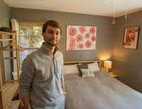 Corey Reinaker in the bedroom he and his wife rent out through AirBNB at their home in Plano, Texas on April 19, 2019. (Robert W. Hart/Special Contributor)(Robert W. Hart/Special Contributor)