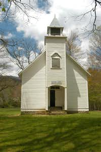 Palmer Chapel was built in 1898 in the Cataloochee Valley. Circuit-riding preachers conducted services once a month, and Sunday school was held every week.(National Park Service)