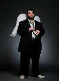 "Dallas performing artist Isaac Young as an ""angel"" for his upcoming   production of <i>The Book of Gabe</i>. Isaac is the founder of the recently launched Eccentric Bear   Theater Co. and this will be his first show for Wild Detectives. (Tom Fox/Staff Photographer)"