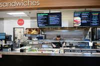 The made to order sandwiches counter at the new Tom Thumb at the Union on Wednesday, April 10, 2019, in Dallas. (Smiley N. Pool/The Dallas Morning News)(Smiley N. Pool/Staff Photographer)