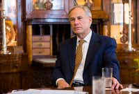 Gov. Greg Abbott issued an emergency disaster proclamation to save plumbing regulations in Texas from shutting down -- due to state lawmakers' malfeasance. But he didn't blame them. He blamed hurricane Harvey..(Ashley Landis/Staff Photographer)