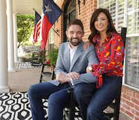 Jeff Leach, left, and Becky Leach pose for a photograph at their home on April 19, 2019.(Jason Janik/Special Contributor)