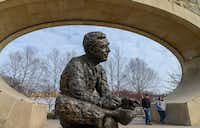 Pittsburgh's North Shore is home to a memorial statue of Fred Rogers that has accompanying audio from the TV legend. (Michael Henninger/The Washington Post)