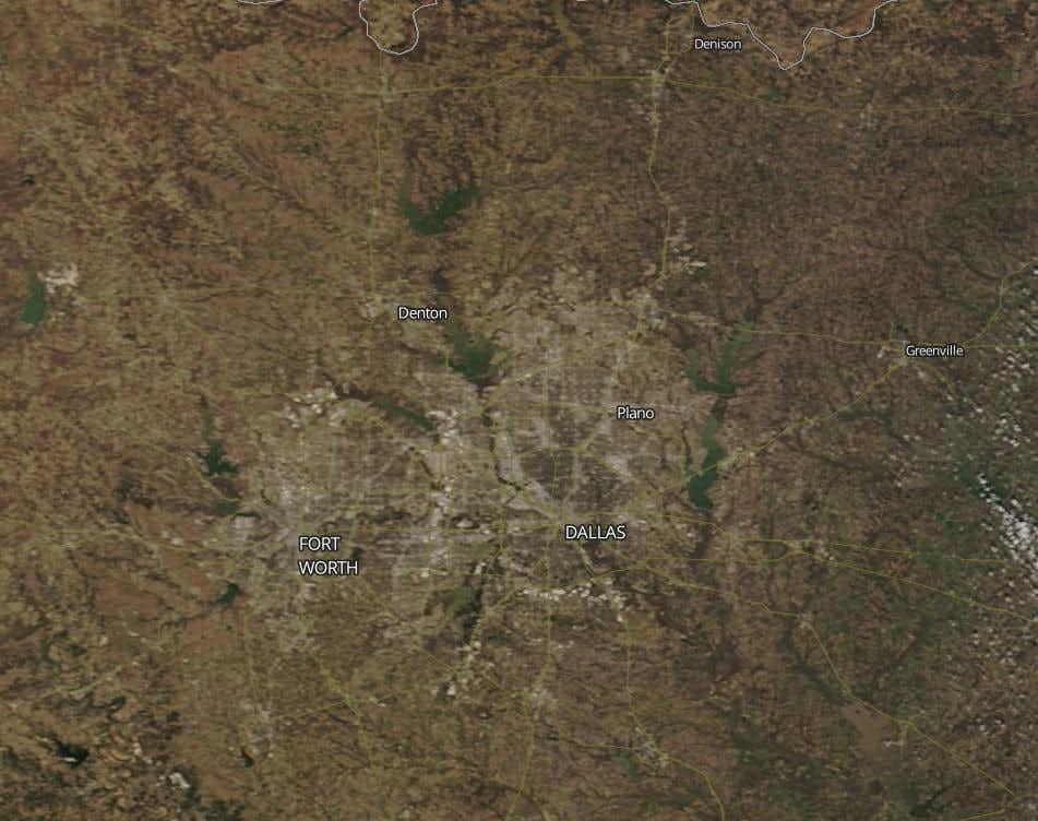 Watch Dallas-Fort Worth transform from winter to spring from space