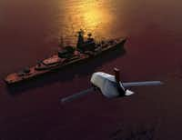 This illustration shows a stealthy long-range anti-ship missile designed and produced by Lockheed Martin's Missiles and Fire Control division.(Lockheed Martin Corp.)