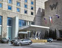 The W Dallas Victory Hotel was one of the first buildings in Victory Park.(HFF)