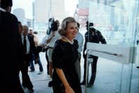 Former Dallas Mayor Annette Strauss arrives of the opening of the Morton H. Meyerson Symphony Center in 1989(Staff/The Dallas Morning News)