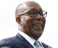 Former Mayor Ron Kirk during the Dedication of the Ronald Kirk Pedestrian Bridge in Dallas on June 4, 2016. (Nathan Hunsinger/Staff Photographer)