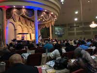 Several hundred people attended Mike Murdock's four-day birthday celebration. This photo was taken on the Saturday before Easter in 2019.(Dave Lieber/Staff photo)
