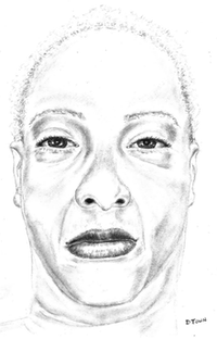 Police released a sketch of the dead woman.(Dallas Police Department)