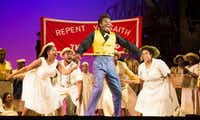 Jermaine Smith, who plays Sportin' Life, and the chorus perform during a dress rehearsal.(Ashley Landis/Staff Photographer)