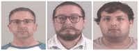 From left: Dusty Weldon Cloud, Adam Gregory Morin, Julio Cesar Rodriguez Mendoza(Tarrant County Sheriff's Department)
