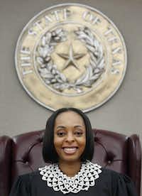 """Dallas County Criminal Court Judge Shequitta Kelly says stay-away orders work because the perpetrator """"is afraid I'm going to throw his butt in jail.""""(Vernon Bryant/Staff Photographer)"""