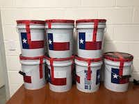 Authorities reported finding 194 pounds of liquid methamphetamine in a pickup crossing the border into Texas on Sunday.(U.S. Customs and Border Protection)