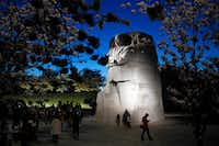 Afternoon may be the best time to visit, but the Martin Luther King Jr. Memorial looks rather dramatic at dusk.(Patrick Semansky/The Associated Press)