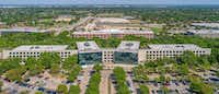 The 2400 Glenville office campus in Richardson - formerly home to Verizon - is the latest big property to hit the market in D-FW.(CBRE)