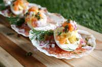 Smoked Salmon Deviled Eggs (Rose Baca/Staff Photographer)