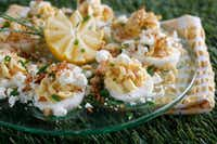 Crab and Goat Cheese Deviled Eggs (Rose Baca/Staff Photographer)