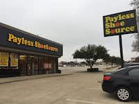 Payless Shoe Source store at 700 W 15th Street in Plano.(Maria Halkias/Dallas Morning News)