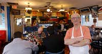 Tommy Melios knows he won't stay here forever. But he's not yet ready to give up the restaurant he bought in 1972 with his three brothers.(David Woo/Staff Photographer)