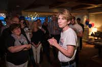 Former Mayor Laura Miller, who ran against incumbent Jennifer Staubach Gates for the Dallas City Council District 13 seat, addressed supporters during an election night watch party on Saturday, May 4, 2019, in Dallas.(Smiley N. Pool/Staff Photographer)