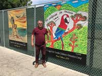 """1. El Paso historian David Romo is co-curator of the """"Caged Art"""" exhibition, which opened at UTEP's Centennial Museum and will also open in a separate exhibit May 4th in the historic El Paso neighborhood of Duranguito, where many Central Americans migrants are daily dropped off. The teenagers created the art work while in federal detention at the Tornillo camp.4/23/19(Alfredo Corchado/Staff writer)"""