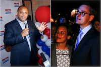 """<p><span style=""""font-size: 1em; background-color: transparent;""""></span></p><p>Rep. Eric Johnson, D-Dallas (left), and City Council member Scott Griggs, pictured with his wife, will face each other in a June 8 runoff for Dallas mayor.&nbsp;<span style=""""font-size: 1em; background-color: transparent;"""">(Left photo: Tom Fox/Staff Photographer; right photo: Brian Elledge/Staff Photographer)</span></p><p></p><p></p>"""