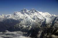 Mount Everest reaches a height of just over 29,000 feet above sea level, making it the tallest mountain on Earth. (The Associated Press/2005 File Photo)
