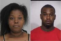 <p>Destiny Hansford, Dominique Deandrae Parks</p>(Dallas County Sheriff's Department, Irving Police Department)