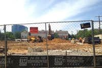 Construction has started on the project on Congress Avenue near Oak Lawn.(Steve Brown)